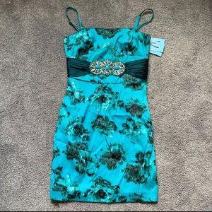 Marciano Turquoise Stone Belt Mini Dress